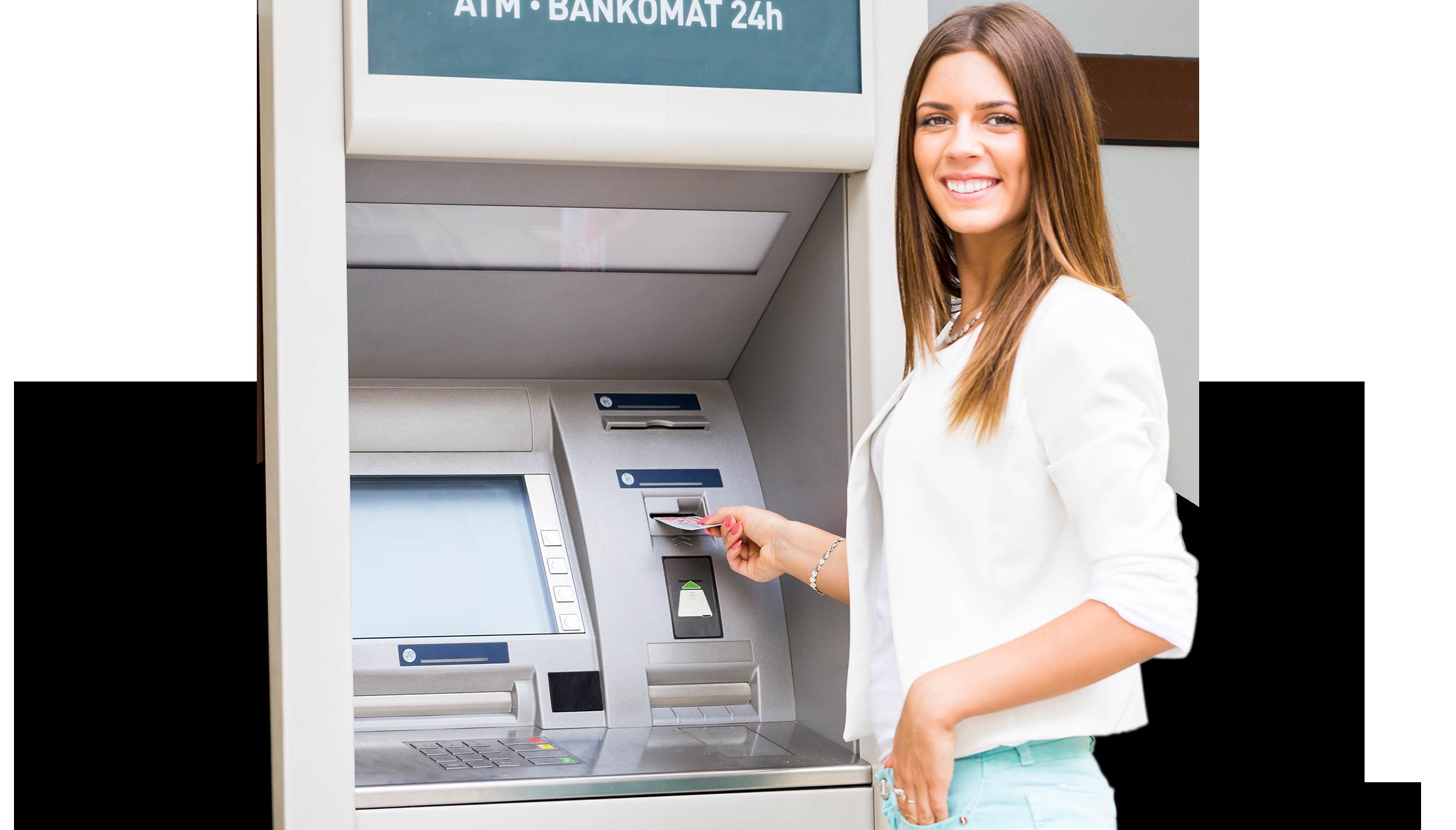 ATM client heureux pas d'explosion